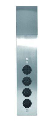 Energie-hoekzuil 4ST stopcontact - Met USB lader