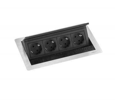 Evoline FlipTop Push Medium 4ST stopcontact Schulte