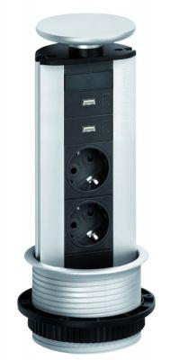 Evoline Powerport 2ST stopcontact - Met USB lader Schulte