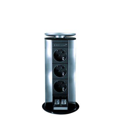 Evoline Powerport 3ST stopcontact - Met data aansluiting Schulte