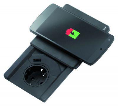 Evoline Square 80 1ST - Met USB én Qi deksel lader Schulte