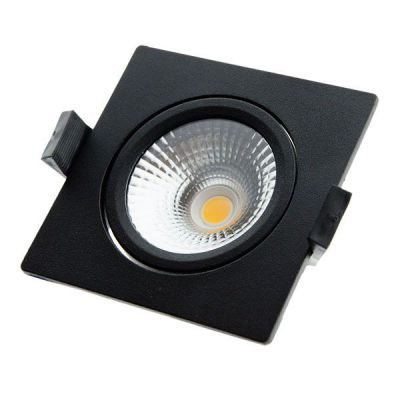 LED inbouwspot Star Square Zwart DIM TO WARM